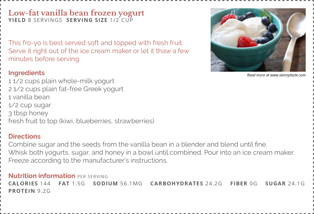 Low Fat Vanilla Bean Frozen Yogurtfinal Vancouver Clinic
